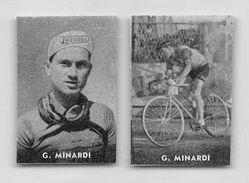 "38 ""GIUSEPPE MINARDI 1928 - CICLISTA "" COPPIA DI FIGURINE ORIGINALI ""NANNINA"" 1952 - Ciclismo"