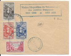 MARTINIQUE - 1935 - EXPO TRICENTENAIRE Des ANTILLES Avec OBLITERATION FDC RARE Sur ENVELOPPE De FORT DE FRANCE - Martinique (1886-1947)