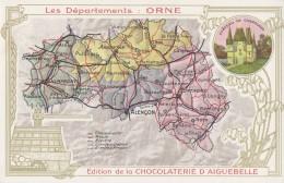 CPA - Carte Du Département ( Edition De La Chocolaterie D'Aiguebelle ) - Sin Clasificación