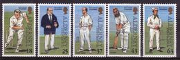 Alderney Set Of Stamps To Celebrate 150th Anniversary Of Cricket On The Island. - Alderney