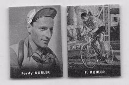 "40 ""FERDY KUBLER 1919 - 2016 CICLISTA "" COPPIA DI FIGURINE ORIGINALI ""NANNINA"" 1952 - Ciclismo"