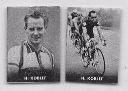"41 ""HUGO KOBLET 1925 - 1964 CICLISTA "" COPPIA DI FIGURINE ORIGINALI ""NANNINA"" 1952 - Ciclismo"