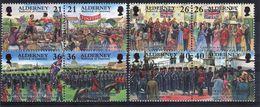 Alderney Set Of Stamps To Celebrate Garrison Island 4th Series. - Alderney