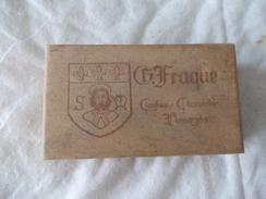 BOITE En Bois Fraque Confiseur Chocolatier Limoges Cognac Bisquit - Boîtes