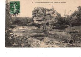 77-----forôt De FONTAINEBLEAU--le Sphinx Des Druides--voir 2 Scans - Fontainebleau