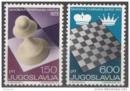 1115 Jugoslavia 1972   20st Chess Olympiad, Skopje Scacchi Olimpiadi Nuovo MNH Serie Completa - Scacchi