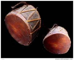 Ancien Beau Tambour Cérémoniel Du Népal / Great Old Ceremonial Drum From Nepal - Musical Instruments