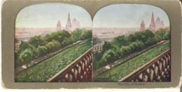 Stereoscope Card  The City Of Moscow, Russia - Stereoscope Cards