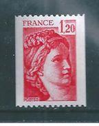 France Type Sabine De 1977/78 N°1981Ba (n°rouge) - France