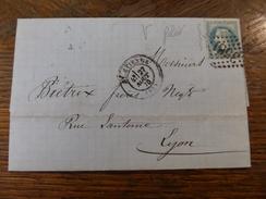 28-29.11.17-LAC De ST-Etienne ,a Voir!! Illustrée,27 Aout 70,variété Filet Gauche - 1863-1870 Napoléon III. Laure