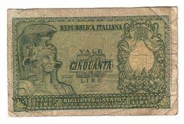 Italy 50 Lire 1951 .L. - [ 2] 1946-… : Républic