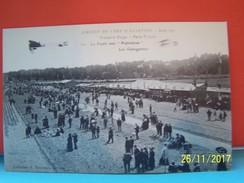 """TROYES (AUBE) CIRCUIT DE L'EST D'AVIATION. AOUT 1910. PREMIERE ETAPE. PARIS-TROYES. LA FOULE AUX """"POPULAIRES""""....... - Troyes"""