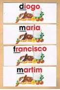 (000 + 003) - 7autocollants Ferrero, Pour Bouteilles - Noms Tous Différents - Kinder & Diddl
