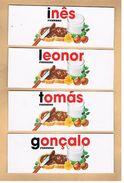 (002 + 005) - 7 Autocollants Ferrero, Pour Bouteilles - Noms Tous Différents - Kinder & Diddl