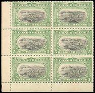 N°54(6) - 5 Centimes MOLS BILINGUE En Bloc De 6 Bdf Inf. Gauche Avec 1 Ex. (le Second à Droite) Présentant La Variété '3 - 1894-1923 Mols: Neufs