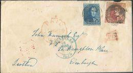 N°2-5 - Epaulette 20 Centimes Bleue En Affr. Combiné Avec Médaillon 40 Centimes (margé Et Grand Voisin), Obl. P.24 Sur E - 1849 Epaulettes