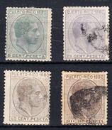 PUERTO RICO 1880. EDIFIL Nº 35+38+39+40 USADOS     CECI 2  Nº 150 - Puerto Rico