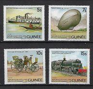 "Guinée YT 736 à 739 "" Moyens De Locomotion Anciens "" 1984 Neuf** - Guinée (1958-...)"