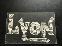 36842 - LYON Multi Vues Integrées Dans Le Nom De La Ville - 1905 Timbrée - Lyon