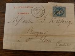 28-29.11.17-LAC   De Rodez,n°29,variété , A Voir!! - 1863-1870 Napoléon III Lauré