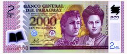 PARAGUAY 2000 GUARANIES 2011 Pick 228c Unc - Paraguay