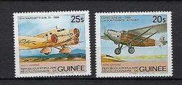 """Guinée Aerien YT 162 & 163 (PA) """" Avions """" 1984 Neuf** - Guinée (1958-...)"""
