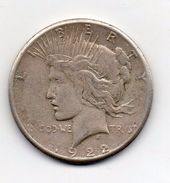 "Stati Uniti -  1922 - 1 Dollaro ""Peace"" - Zecca S (San Francisco) - Argento - (FDC6548) - Federal Issues"