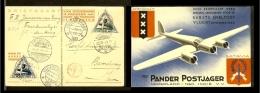 1933 - Eerste Vlucht Amsterdam - Bandung En Terug [A60_213] - Luchtpostzegels