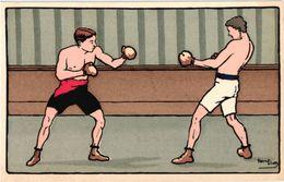 1 CPA  Illustrator Harry Eliott     Boxing   Lithography - Elliot