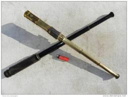 LOT 2-deux  TRES BELLES ANCIENNES LONGUES VUES Laiton ....................... - Technics & Instruments