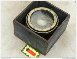TRES BEL  ANCIEN COMPAS De ROUTE En COFFRET  à Voir ....... #.5 - Technique Nautique & Instruments