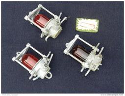 LOT 3 LAMPES De MATURE En BRONZE LAITON MARINE NATIONALE - LE HARDI - Technics & Instruments