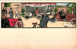 1 CPA  Illustrator Harry Eliott     Auto Race   Lithography - Elliot