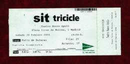 Tricicle SIT (ticket) - Teatro & Disfraces
