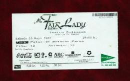 MY FAIR LADY (ticket) - Teatro & Disfraces