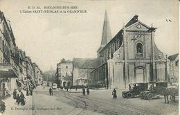 Boulogne-sur-Mèr - L'Eglise Saint-Nicolas Et La Grand'Rue (001874) - Boulogne Sur Mer