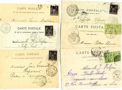 Lot De Timbres N°: 102 Et 89. Sur CP - Marcophilie (Lettres)