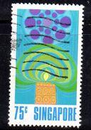 XP3713 - SINGAPORE 1972 , 75 Cent  N. 159  Usato - Singapore (1959-...)