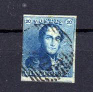 1849   Léopold 1er, 20c épaulettes, N° 2 Avec Voisin, Cote 60 €, - 1849 Schulterklappen