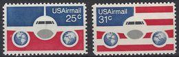 Estados Unidos Aereo 083/84 ** MNH. 1976 - Air Mail
