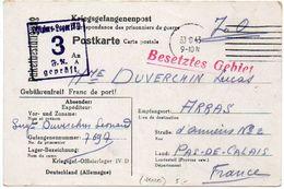 Carte Postale De Prisonnier Du Kriegsgef. Offizierlager IV D - Avis De Réception D'un Colis - Marcophilie (Lettres)