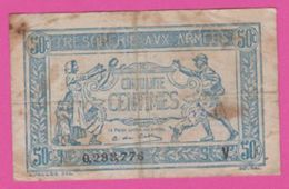FRANCE - TRESOR Aux ARMEES - 50 Centimes Du 10 Mars 1920 - Treasury