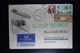 USA  Via Airship  Hindenburg  Mailed At May 6, The Day The Hindenburg Crashed Did Not Fly TGermany Zieger 454 - Air Mail
