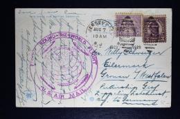 USA  Graf Zeppelin LZ127 Lakehurst To Gronau Germany, Weldrundfahrt 1928 Sieger 28 First Round The World Flight US Air M - Luftpost