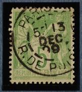 Sage N°102.Type IIl Ob.( CAD ) PARIS Rue De Poissy 13 Déc 1899.( Bur 28 ) - 1898-1900 Sage (Type III)