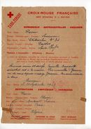 Message Croix-rouge De France Pour L'Algérie (1943) - Marcophilie (Lettres)