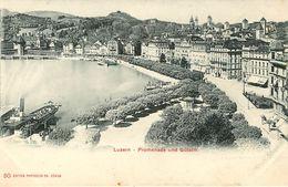 Suisse - Swiss - Lucerne - Luzern - Promenade Und Gütsch - Bon état Général - LU Lucerne