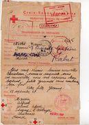 Message Croix-rouge Du Maroc Pour La France (1943) - Marcophilie (Lettres)