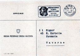 1957 Svizzera - Mostra Canina A Berna - Annullo - Briefmarken