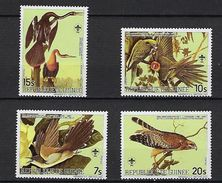 """Guinée YT 764 à 767 """" J.J. Audubon, Oiseaux """" 1985 Neuf** - Guinea (1958-...)"""
